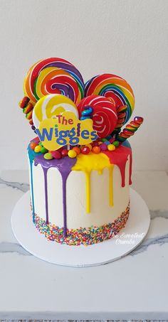 Wiggles cake @the_sweetest_crumbs 2nd Birthday Cake Girl, Wiggles Birthday, Wiggles Party, Bithday Cake, Second Birthday Ideas, Boy Birthday Parties, Krispy Kreme, Wiggles Cake, The Wiggles