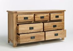 Offering tonnes of practical storage space within its three small and four large drawers, this beautiful piece of furniture is here to rescue all of the homeless clothing in your bedroom. Its seven sturdy drawers feature solid oak fronts and durable dovetailed joints making them strong and easy to use.And it's not just about being practical, with its charming rustic style and vintage-inspired metal handles the Westbury Reclaimed Oak 3 Over 4 Chest of Drawers has country charm aplent...
