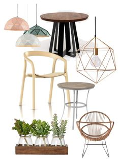 """""""Green Cafe"""" by chesyj on Polyvore featuring interior, interiors, interior design, home, home decor, interior decorating, artless, Herman Miller, Oxford Garden and Pols Potten"""
