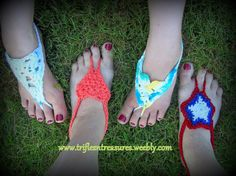 Barefoot Sandals Pattern Pack- not really clothes but adorable for the summer!