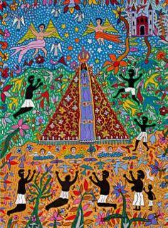 """Antônio Eustáquio. """"Nossa Senhora Aparecida Protetora dos Escravos"""" (2009). 92x70 cm."""