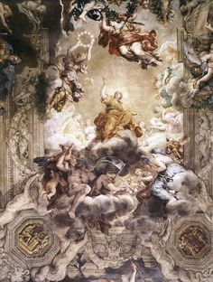 Pietro Da Cortona The Triumph of Divine Providence hand painted oil painting reproduction on canvas by artist Baroque Painting, Baroque Art, Caravaggio, Most Beautiful Paintings, Victorian Paintings, Italian Paintings, Tempera, Italian Baroque, Painting Wallpaper