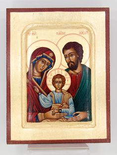 Christ The Holy Family Byzantine Wooden Icon on Canvas Byzantine Icons, Byzantine Art, Catholic Company, The Birth Of Christ, Family Images, Italian Painters, Religious Icons, Holy Family, Sacred Art