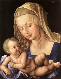Dürer, Albrecht - Madonna of the Pear (Virgin and Child with Half a Pear) - Renaissance (Northern) - Saints - Oil on wood