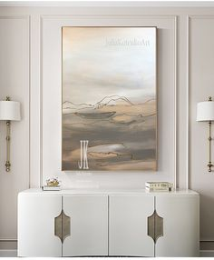 Large Wall Art on Canvas Beige painting Above Bed decor Abstract Landscape Painting Living Room Art Modern Oil Painting by Julia Kotenko Modern Oil Painting, Abstract Landscape Painting, Landscape Paintings, Landscapes, Abstract Art, Living Room Canvas Art, Living Room Paint, Room Art, Texture Painting On Canvas