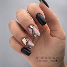 Marble nails are a kind of nail art design which imitates the appearance of marble. Everyone can create this nail style on their own nails, or specialize it to achieve better results. Marble nails have become more and more popular in recent years, an Marble Nail Designs, Marble Nail Art, Black Nail Designs, Acrylic Nail Designs, Nail Art Designs, Nails Design, Shellac Nail Designs, Popular Nail Designs, Square Nail Designs