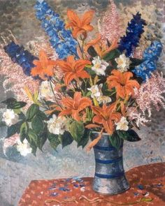 Hermann Friederich 'Herman' Bieling (Rotterdam 1887-1964 Rhoon) Flower still life - Dutch Art Gallery Simonis and Buunk Ede, Netherlands.
