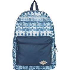 Billabong Women's Shallow Tidez Backpack ($20) ❤ liked on Polyvore featuring bags, backpacks, accessories, indigo, multi colored backpacks, travel daypack, backpack travel bag, billabong bag and colorful backpacks