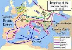 To many historians the fall of the Roman Empire has always been viewed as the end of the ancient world and the onset of the Middle Ages, often improperly called the Dark Ages, despite Petrarch's assertion. Since much of the west had already fallen by the middle of the fifth century, when a writer speaks of the fall of the empire, he or she generally refers to the fall of the city of Rome. (Info by Donald L. Wasson) -- AHE