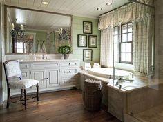 Francie Hargrove green bathroom Art...
