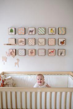#wall-art, #nursery Photography: Angela Newton Roy Photography - www.angelanewtonroy.com Read More: http://www.stylemepretty.com/living/2013/10/21/a-mid-century-modern-inspired-nursery-get-the-look/