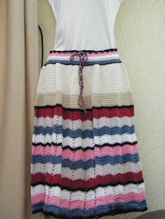 falda  en algodón tejida por Rossana Marconi