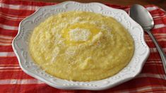 Parmesan cheese gives this polenta a nice, subtle cheese flavor. Serve it immediately as a creamy side dish, or chill it so that the polenta can be sliced, then fried or grilled. Italian Dishes, Italian Recipes, Side Dish Recipes, Side Dishes, Vegetarian Recipes, Cooking Recipes, Vegan Polenta Recipes, Cooking Polenta, Gourmet