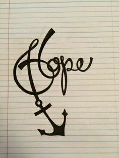 Possibly my next tattoo. We have this hope as an anchor for the soul, firm and . - Possibly my next tattoo. We have this hope as an anchor for the soul, firm and secure -Hebrew - Future Tattoos, New Tattoos, Body Art Tattoos, Cool Tattoos, Tatoos, Tattoo Mutter, Freundin Tattoos, Hope Anchor, Anchor Tattoos