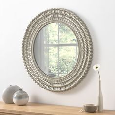 View Seville Champagne Round Mirror product from Soraya Interiors UK, See more products like this and more wall mirror categories Wall Mirrors Uk, Hall Mirrors, Silver Wall Mirror, Ornate Mirror, Mirrors For Sale, Bedroom Mirrors, Cheap Mirrors, Decorative Mirrors, Mirror Glass