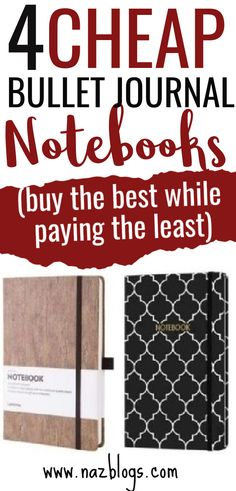 Do you want to bullet journal on a budget? Are you looking for some cheap bullet journal notebook options? Then you're in the right place! Here are 4 Best & Cheap Bullet Journal Notebooks. #bulletjournalnotebooks