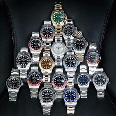 @rolexdiver's Rolex family. | http://ift.tt/2cBdL3X shares Rolex Watches collection #Get #men #rolex #watches #fashion