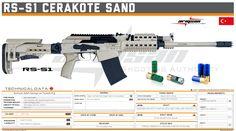 Armsan Silah Sanayi ve Ticaret A.Ş. - RS-S1 Cerakote Sand Tactical Accessories, Tactical Shotgun, Future Weapons, Custom Guns, Shooting Range, Military Guns, Weapon Concept Art, Pew Pew, Weapons Guns
