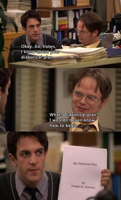 @libbyyn He's a man with a plan. | 33 Dwight Schrute Jokes That Still Make You Laugh Every Time