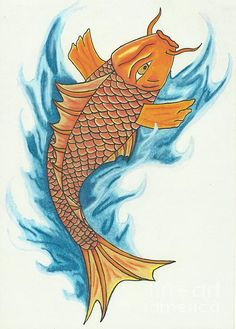 Koi With Waves