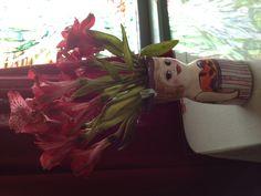 Our breakfast host. The Wildflower Cafe, Duxbury, Massachusetts