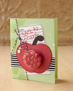 Back To School card made with the Cricut® Artiste Cartridge #CTMH