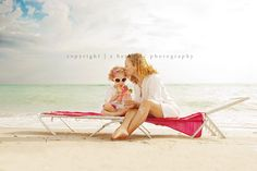 Gorgeous Mommy & Daughter Image ♡ Family Photo Session Ideas | Props | Prop | Child Photography | Clothing Inspiration| Fashion | Pose Idea | Poses | Beach | Summer | Mom & Baby Girl