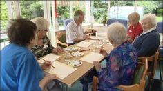 Residents of a South Lincolnshire care home have been praising a new form of therapy which encourages creativity.