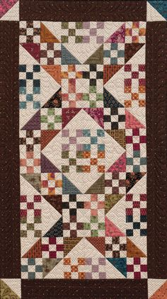 Martingale - Homestyle Quilts by Kim Diehl- basically a Jacob's Ladder design, only using a 9 patch rather than a 4 patch