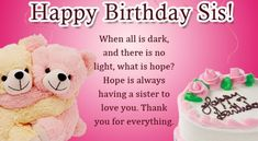 Birthday Message For Younger Sister Precious sis, no matter how many we quarrel over unimportant items, deep in my mind I understand that you honestly care Happy Birthday Dear Sister, Birthday Messages For Sister, Message For Sister, Birthday Words, Birthday Wishes Funny, Very Happy Birthday, Inspirational Birthday Message, Love You Funny, Sister Quotes Funny