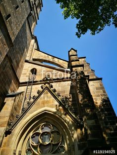 Architektonische Details der katholischen Herz Jesu Kirche in Münster in Westfalen im Münsterland