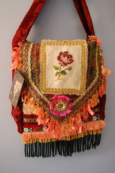Beautiful, Large Gypsy Traveler Bag. $150.00, via Etsy.