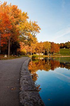 Beaver Lake at the top of Parc Mont-Royal