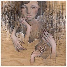 Amazing Paintings by Audrey Kawasaki - Cruzine Audrey Kawasaki, Amazing Paintings, Amazing Art, Illustrations, Illustration Art, Crane Dance, Art Nouveau, Grammy Museum, Pop Surrealism