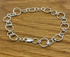 Simple Sterling Silver Charm Bracelet