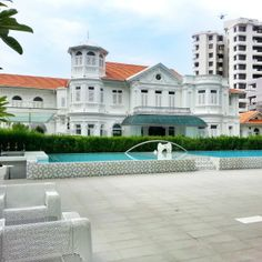 The facade of McAlister Mansion, a luxury boutique hotel in Penang, Malaysia. #Malaysia #hotel #luxe www.tomboy-tarts.com