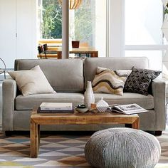 Simple sofa. This is not a pull-out but it does come in a pull-out (more expensive) version.   Henry Sofa #westelm 899.00