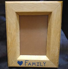 Oak picture frame, 5x7 Frame, hand painted, family pictures, grandparent gift, Christmas gift by MTSWoodworkingNH on Etsy
