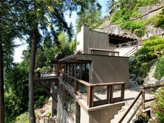 Mid-Century Modern: Paul Merrick Vancouver House, Unusual Buildings, Real Estate Services, Open Plan Living, Midcentury Modern, Interior And Exterior, Interior Design, Great Places, Beautiful Homes
