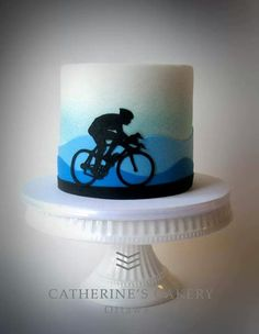 Bicycle Cake, Bike Cakes, Mountain Bike Cake, Sports Themed Cakes, Lolly Cake, 50th Cake, Birthday Cakes For Men, Just Cakes, Cake Decorating Techniques