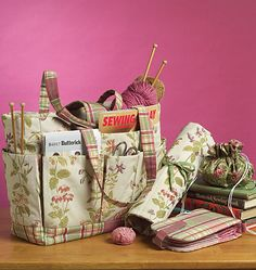 Sewing/Knitting bag, circular needle and straight needle holders