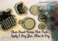 Julie's Stamping Spot -- Stampin' Up! Project Ideas Posted Daily: Tip: How to Make Clear Mount Stamps Stick