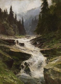 View Die junge Elbe im Riesengebirge by Edward Harrison Compton on artnet. Browse upcoming and past auction lots by Edward Harrison Compton. Watercolor Landscape, Landscape Art, Landscape Paintings, Waterfall Paintings, Mountain Paintings, Le Far West, Traditional Paintings, Beautiful Paintings, Art Oil