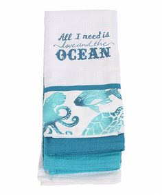 Another great find on #zulily! 'All I Need' Dish Towel - Set of Three #zulilyfinds