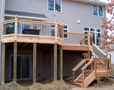 DIY deck idea. How to make am addition to your home. #Two level Deck