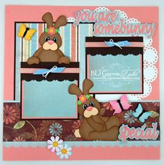I used the Somebunny file from Designs on Cloud 9 for this scrapbook page.          This layout is available on  Ebay  or  Etsy  ( 2 availab...