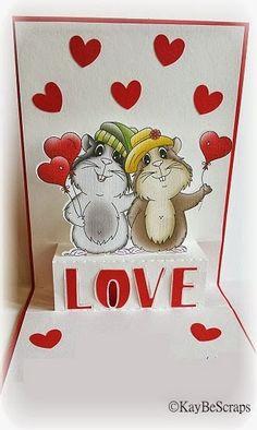 Peppercus Design: Valentinskarte mit Meeri Paar...