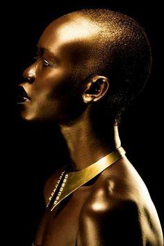 african model, gold and bronze, women accessories  Orijin Culture | Magazine & Fashion