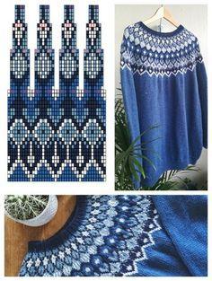 Veljen Villapaita – Sinin Nurkka Crochet Motif Patterns, Fair Isle Knitting Patterns, Knitting Machine Patterns, Knitting Stiches, Knitting Charts, Sweater Knitting Patterns, Knitting Designs, Free Knitting, Stitch Patterns