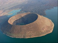 The Cradle of Humankind.  Nabiyotum Crater, Lake Turkana  The Great Rift Valley  Kenya/Ethiopia